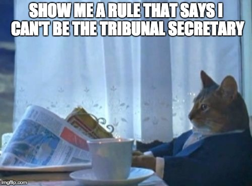 Obligatory arbitration cat meme